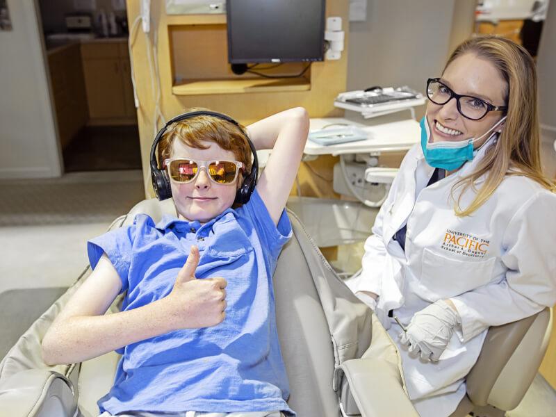 Dr Susie Ryan With Child Patient